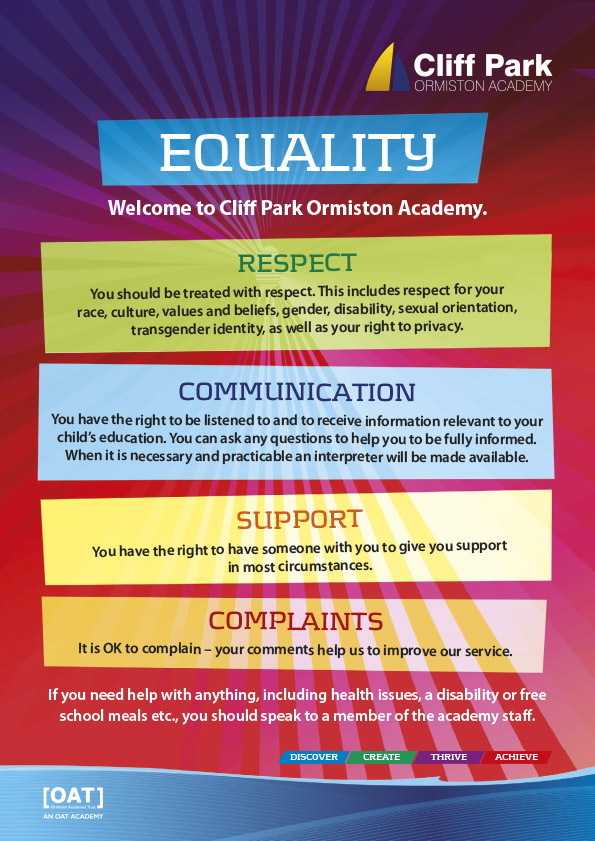 CPOA Equality Poster