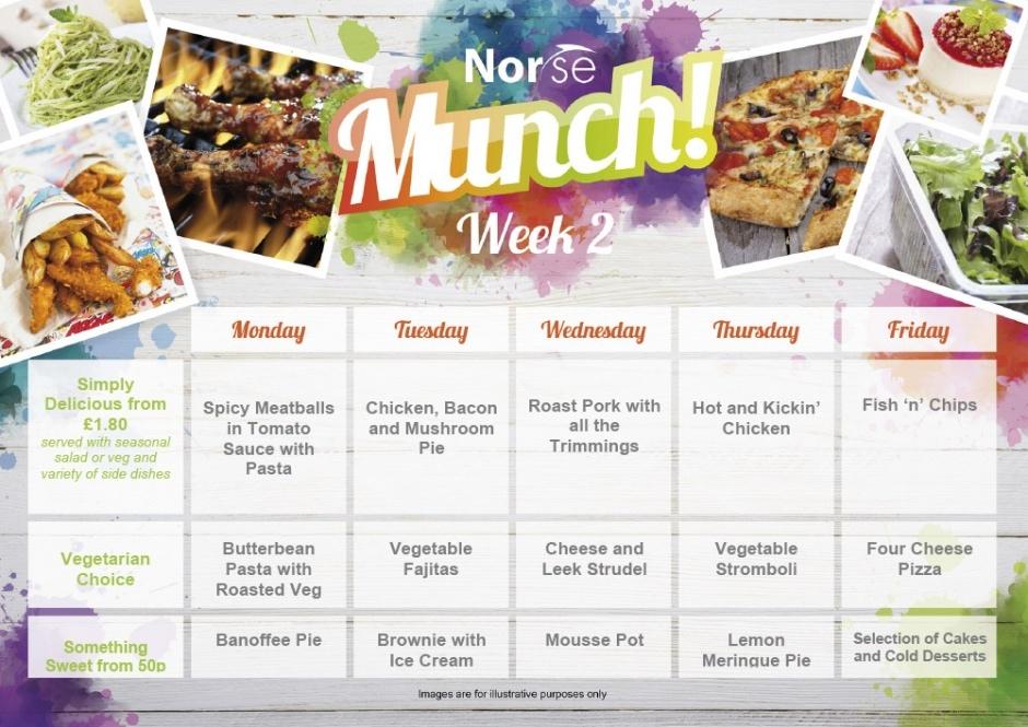 Munch Lunch Menu Week 2