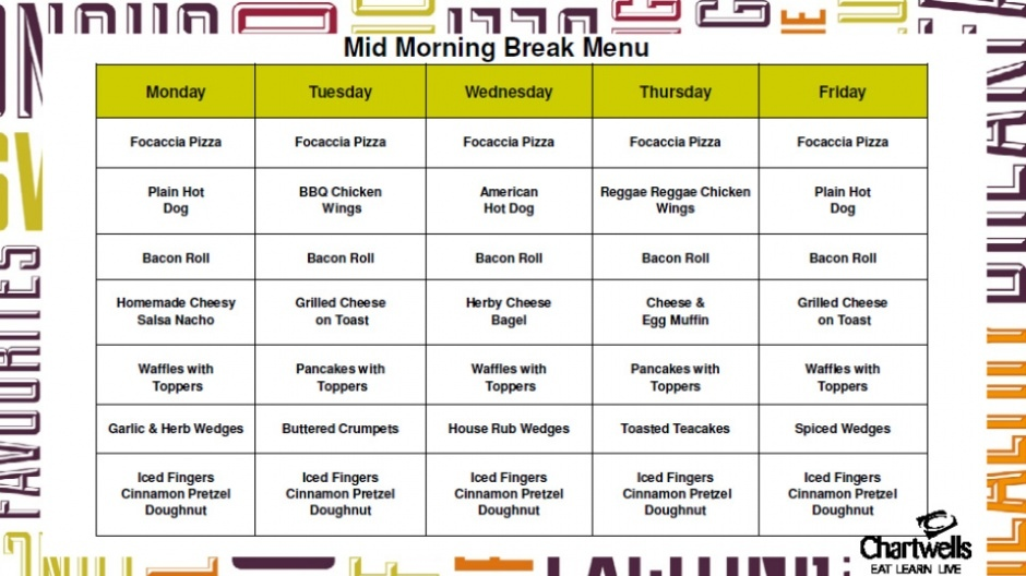 Morning Break Menu